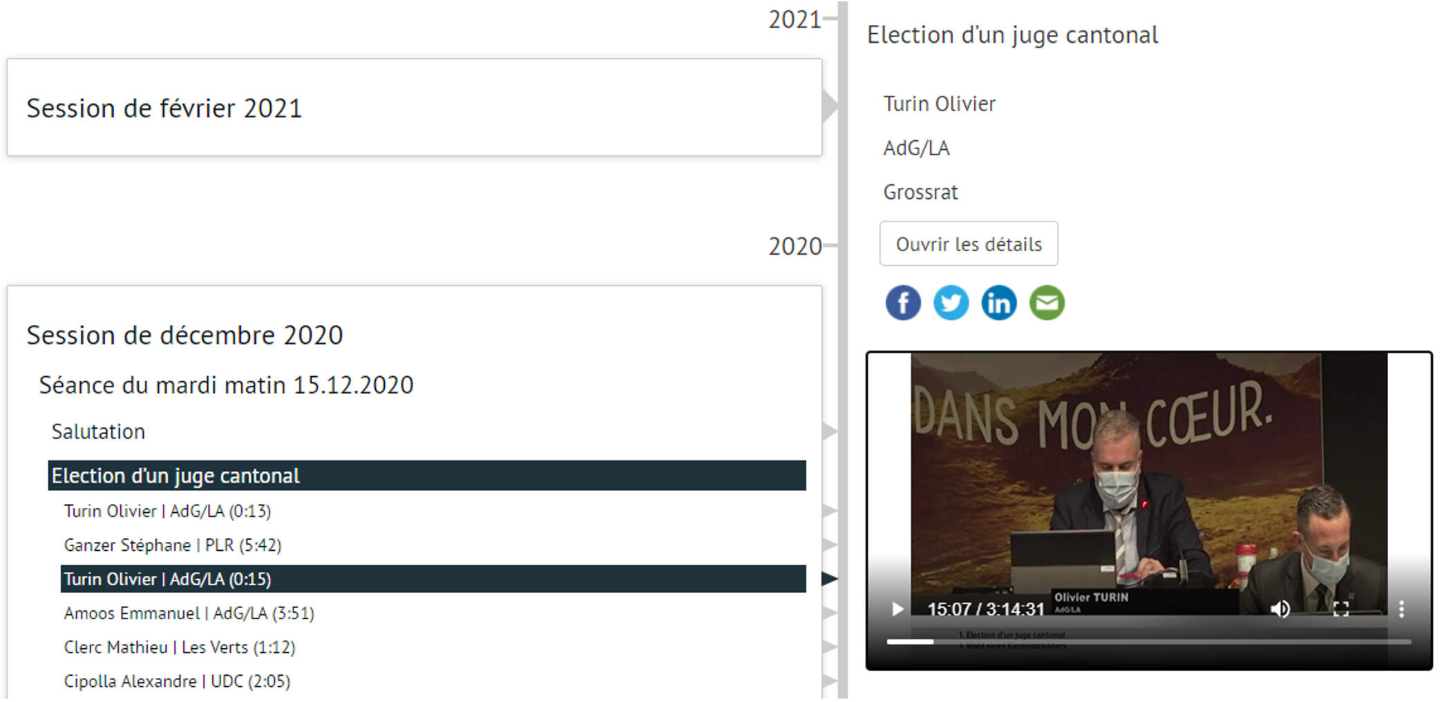 Archives audiovisuelles du Grand Conseil du Canton du Valais